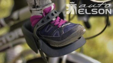 bobike mini one přední detska sedacka na kolo opěrka nohy